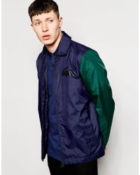Lacoste L!ive | Green Coach Jacket for Men | Lyst
