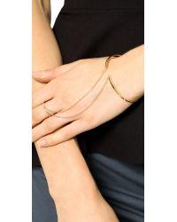 Gorjana - Metallic Mave Ring To Wrist Cuff Bracelet Gold - Lyst