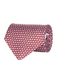 Ferragamo | Red Tropical Fish Silk Tie for Men | Lyst