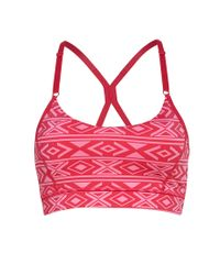 Forever 21 | Pink Low Impact - Tribal Print Sports Bra | Lyst