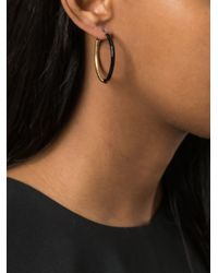 Marc By Marc Jacobs | Black Contrast Hoop Earrings | Lyst