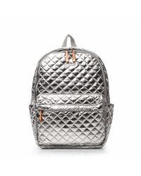 MZ Wallace | Metallic Chrome Oxford Metro Backpack | Lyst