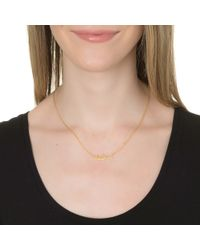 Sarah Chloe | Metallic Ava Petite Name Necklace | Lyst