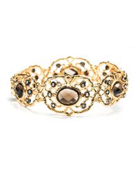 Alexis Bittar | Metallic Gold Jardin De Papillon Hinged Bracelet | Lyst