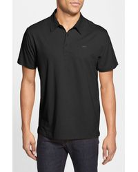 RVCA | Black 'sure Thing' Polo for Men | Lyst