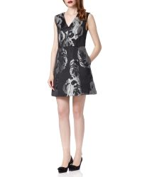 Almost Famous | Metallic Jacquard Dress | Lyst