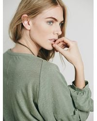 Free People - Green Fp Beach Womens Weekdays Henley - Lyst