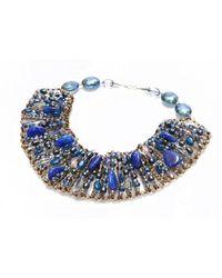 Nakamol - Multicolor Elegant Beaded Necklace-lapis Mix #2 - Lyst