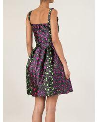 Christopher Kane | Purple Leopard Jacquard Princess Dress | Lyst