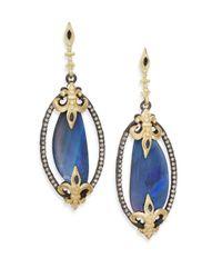 Armenta - Blue Old World Diamond, Boulder Opal & Sapphire Drop Earrings - Lyst