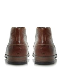 Dune - Brown Chauffeur Lace Up Casual Chukka Boots for Men - Lyst
