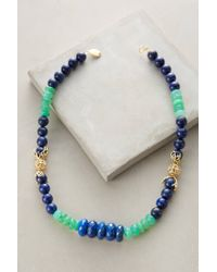 Indulgems | Blue Stonestack Necklace | Lyst