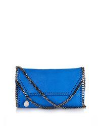 Stella McCartney - Blue Falabella Small Faux-Suede Cross-Body Bag - Lyst