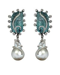 Annoushka | White One Of A Kind Pearl Earrings | Lyst