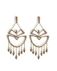 Alexis Bittar   Metallic Kinetic Crystal Encrusted Chandelier Earrings - Gold   Lyst