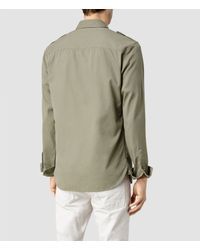 AllSaints - Natural Elias Shirt for Men - Lyst