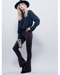 Free People | Purple Ava Babybell Jacquard Legging | Lyst