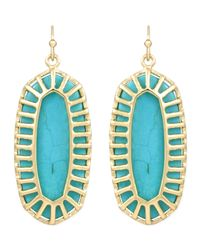Kendra Scott - Blue Dayla Small Drop Earrings Turquoise - Lyst