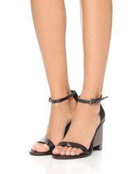 Tibi - Black Milla Wedge Sandals - Lyst
