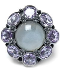Stephen Dweck | Gray Grey Moonstone And Amethyst Flower Ring | Lyst