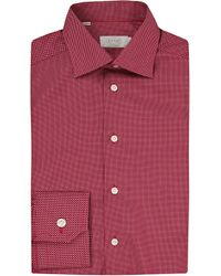 Eton of Sweden - Red Contemporary Fit Micro-dots Cotton Shirt for Men - Lyst