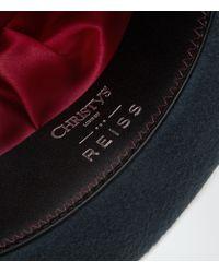 Reiss - Blue Epsom Christys Felt Trilby Hat for Men - Lyst