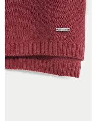 Violeta by Mango - Red Ribbed Cotton-blend Sweater - Lyst