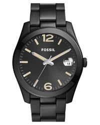 Fossil - Black 'perfect Boyfriend' Round Bracelet Watch - Lyst