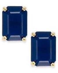 kate spade new york - Blue Crystal Emerald-Cut Stud Earrings - Lyst