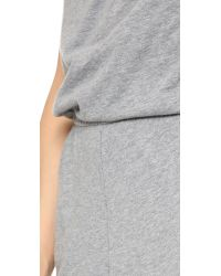 Bobi | Gray Strapless Jumpsuit | Lyst