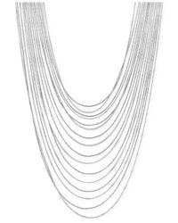 Vince Camuto | Metallic Silver-Tone Multi-Row Layered Chain Necklace | Lyst