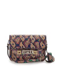 Proenza Schouler - Blue Ps11 Mini Snakeskin Shoulder Bag - Lyst