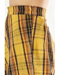 BDG - Yellow Plaid Bias Cut Circle Skirt - Lyst
