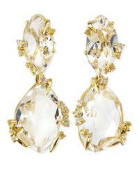 Alexis Bittar Fine | Clear Quartz  Light Yellow Sapphire Earrings | Lyst