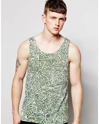 Native Youth - Green Leaf Print Vest for Men - Lyst