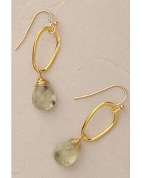 Anthropologie | Metallic Dewdrop Earrings | Lyst