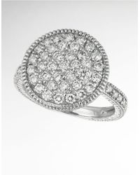 Morris & David | Diamond Ring In 14 Kt. White Gold | Lyst