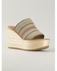 See By Chloé - Natural 'Kenna' Wedge Sandals - Lyst
