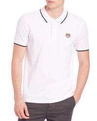 KENZO - White Tiger Logo Polo for Men - Lyst