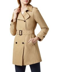 Aquascutum - Natural Murray Double Breasted Wadded Trench - Lyst