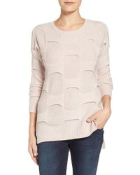 Halogen - Natural 'brickwall' Merino Wool & Cashmere Sweater - Lyst