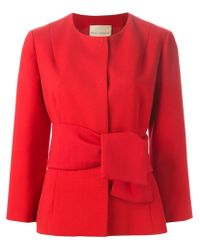 Erika Cavallini Semi Couture - Red Fitted Belted Jacket - Lyst