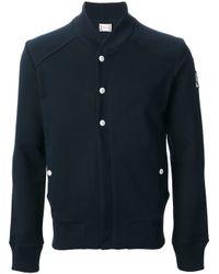 Moncler Gamme Bleu - Blue Bomber Jacket for Men - Lyst