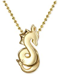 Alex Woo | Metallic Little Signs Dragon Pendant Necklace In 14k Gold | Lyst