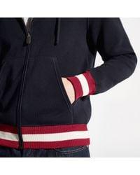 Bally - Blue Zipped Sweater for Men - Lyst