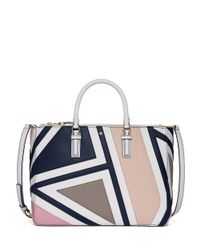 Tory Burch - Blue Robinson Fret-patchwork Multi Tote - Lyst