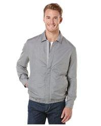 Perry Ellis - Gray Nylon Eisenhower Jacket for Men - Lyst