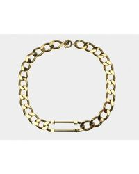 Sabrina Dehoff | Metallic Gold Curb Pin Necklace | Lyst