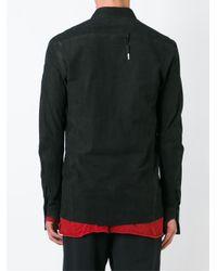 Boris Bidjan Saberi - Black Leather Shirt for Men - Lyst