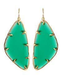 Kendra Scott | Willow Green Glass Earrings | Lyst